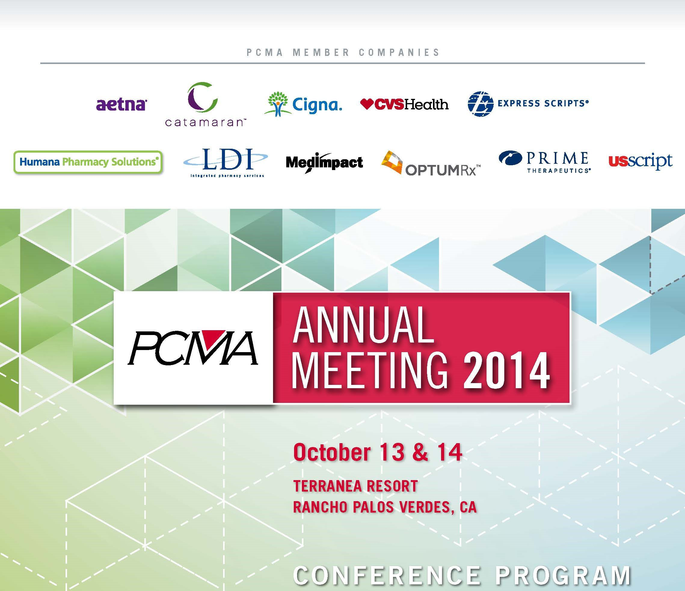 2014_PCMA Annual Meeting_Program Book