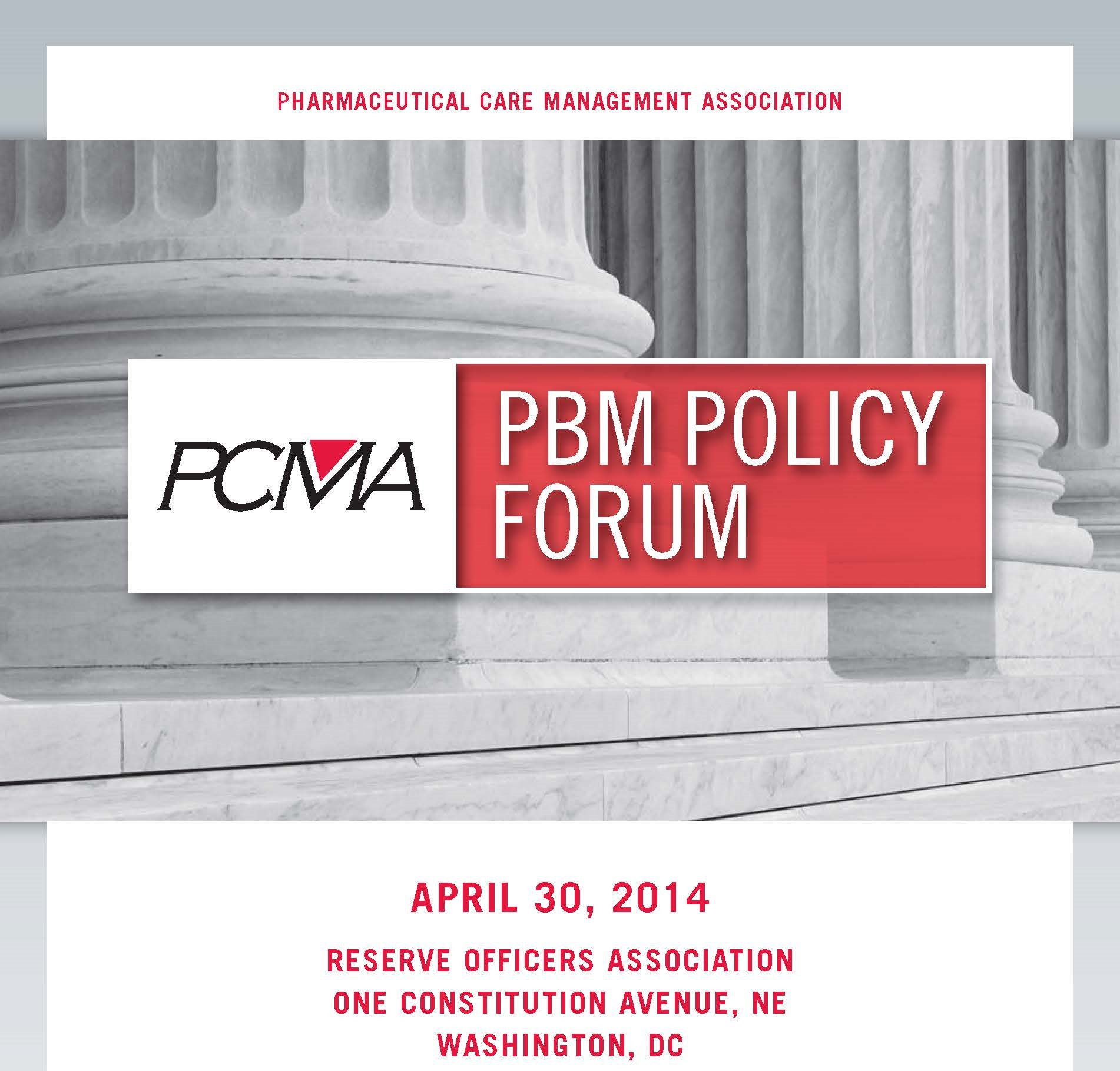 2014_PCMA PBM Policy Forum_Program Book