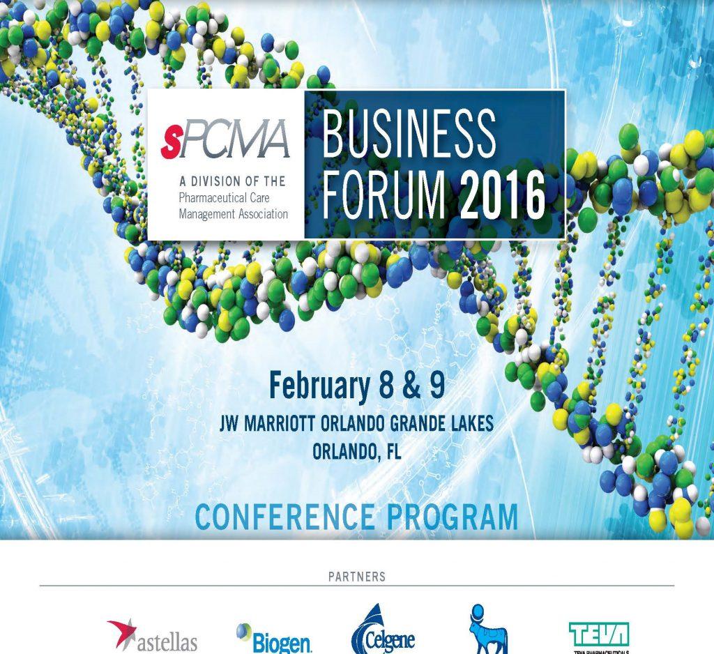 2016_sPCMA Business Forum_Program Book